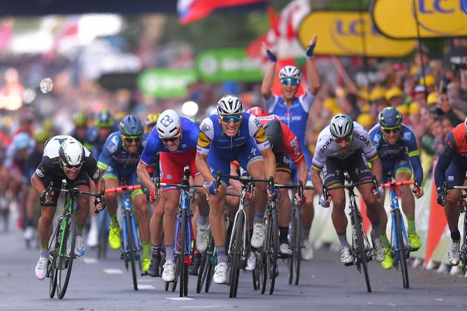 Marcel Kittel en route to winning stage 2 at the Tour de France