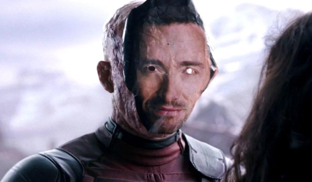 Ryan Reynolds wears Hugh Jackman's face in Deadpool