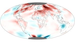 Above average temperatures throughout the world in June, 2012.