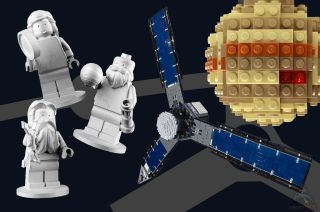 Three Lego minifigures are set to arrive at Jupiter aboard NASA's Juno spacecraft on July 4, 2016, launching a design challenge for children back on Earth.