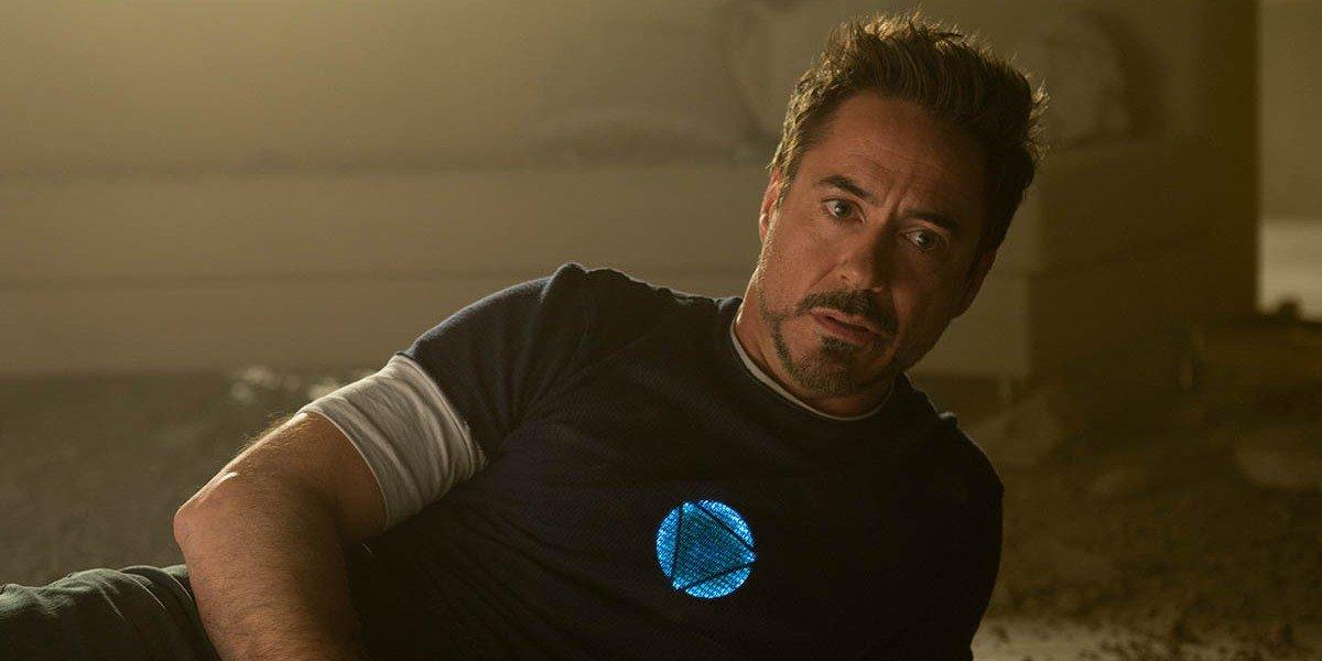 Robert Downey Jr. as Tony Stark in Iron Man 3.