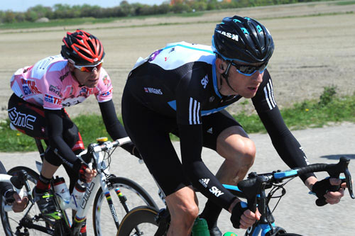 Bradley Wiggins and Cadel Evans, Giro d'Italia 2010, stage 3