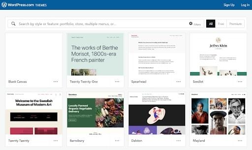 WordPress's range of themes