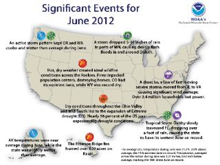 Significant weather events for June 2012 in the U.S.