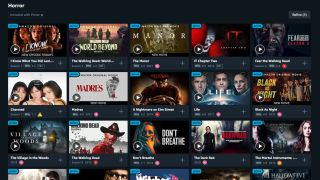 Amazon Prime Video menu showing horror movies and shows