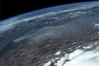 Astronaut Nyberg's Photo of Rim Fire from Space
