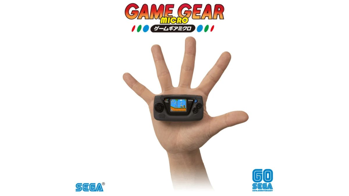 Sega announces ludicrously small Game Gear Micro for its 60th anniversary