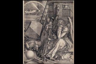 Melancolia I, by Albrecht Dürer, art,