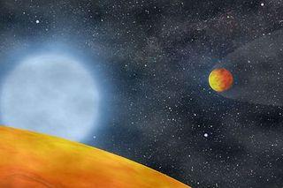 alien planets around red dwarf star koi55