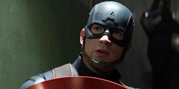 Cap confronting Iron Man in Civil War
