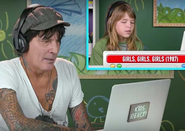 Watch Tommy Lee React to Kids Reacting to Motley Crue