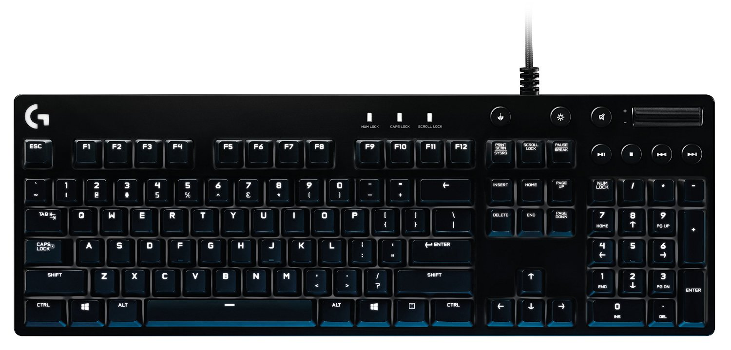 Logitech G610 Orion Brown Gaming Keyboard Software