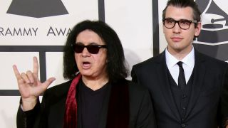 A picture of Gene and Nick Simmons