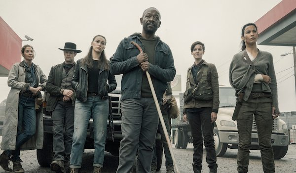 fear the walking dead characters standing off with children