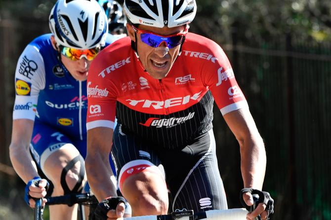 Alberto Contador on the attack during stage 6 at Paris-Nice