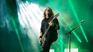 David Ellefson from Megadeth performs at Zenith de Paris on January 28, 2020 in Paris, France.