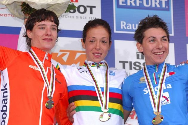 World Championships 2007 womens road race podium