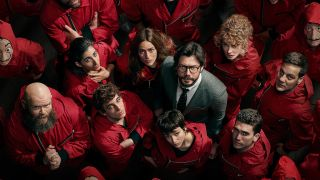 The Professor and the gang from Money Heist