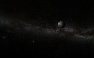 An artist's depiction of a rogue planet.