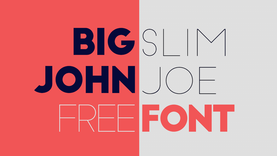 Best free fonts: Big John and Slim Joe