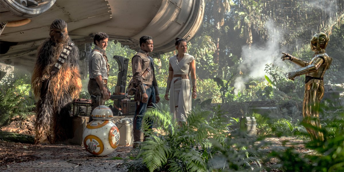 Chewbacca Poe BB-8 Finn Rey and C-3PO in Star Wars: The Rise Of Skywalker