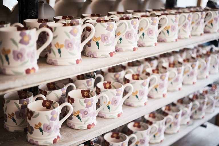 Unglazed Emma Bridgewater mugs