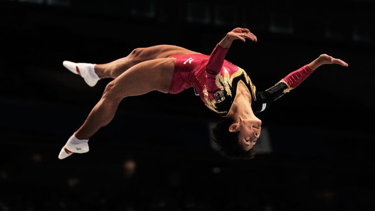 Oksana Chusovitina of Germany competes on the Beam aparatus in the Women's qualification during day two of the Artistic Gymnastics World Championships Tokyo 2011 at Tokyo Metropolitan Gymnasium on October 8, 2011 in Tokyo, Japan.