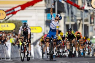 Tour de France 2020 107th Edition 2nd stage Nice Nice 186 km 30082020 Julian Alaphilippe FRA Deceuninck Quick Step Marc Hirschi SUI Team Sunweb photo POOl Jan De MeuleneirPNBettiniPhoto2020