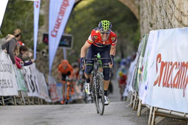 Alejandro Valverde on his way to winning Stage 1 of the 2014 Ruta del Sol