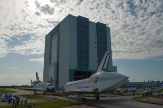 NASA's space shuttles Atlantis and Endeavour pose for nose-to-nose photos