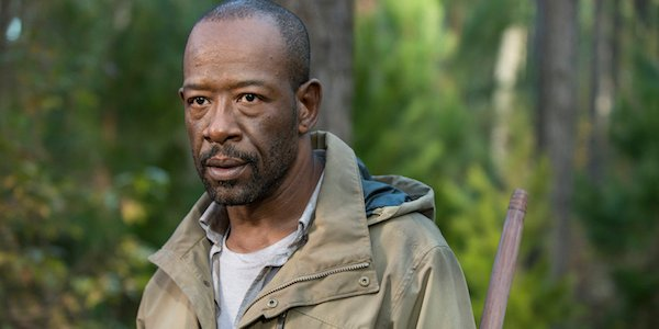 Morgan in the woods in The Walking Dead