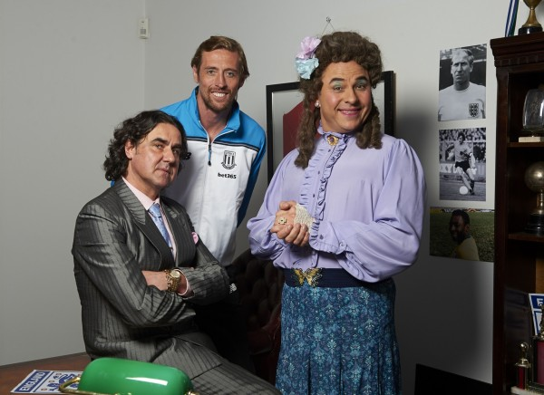 David Walliams, Micky Flanagan and Peter Crouch team up for Sport Relief