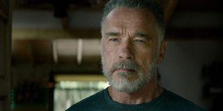 T-800 / Carl (Arnold Schwarzenegger) stares in Terminator: Dark Fate (2019)