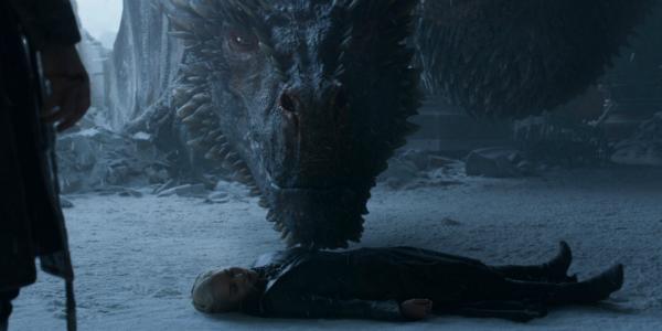 Game of Thrones Drogon Daenerys Targaryen Emilia Clarke HBO