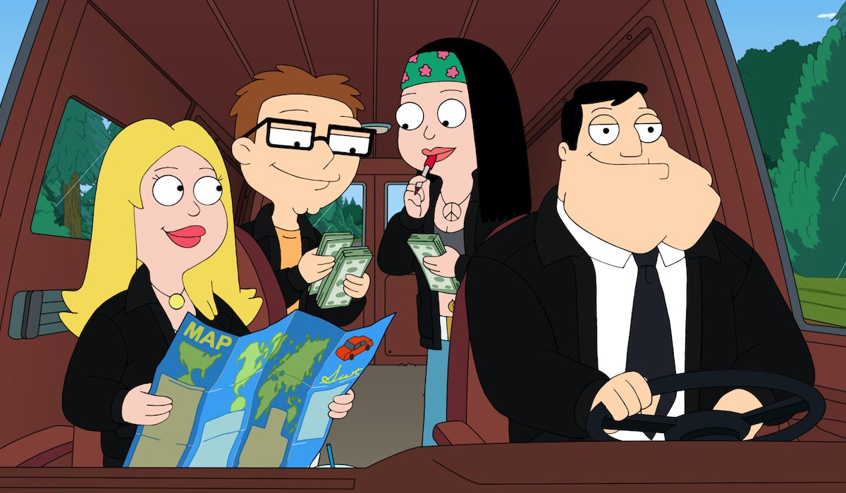 american dad smith family in their car