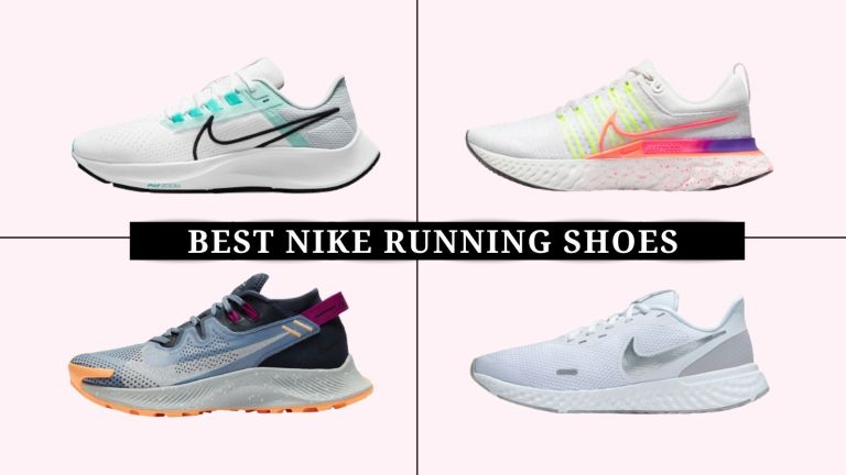 grid of images of the best Nike running shoes for women