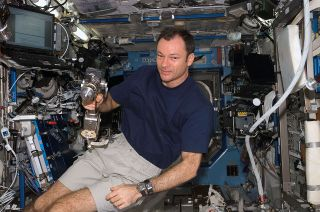 Michael Lopez-Alegria, seen here in 2006 during his last visit to the International Space Station, is now assigned to command Axiom Space's AX-1 commercial mission to the orbital complex.