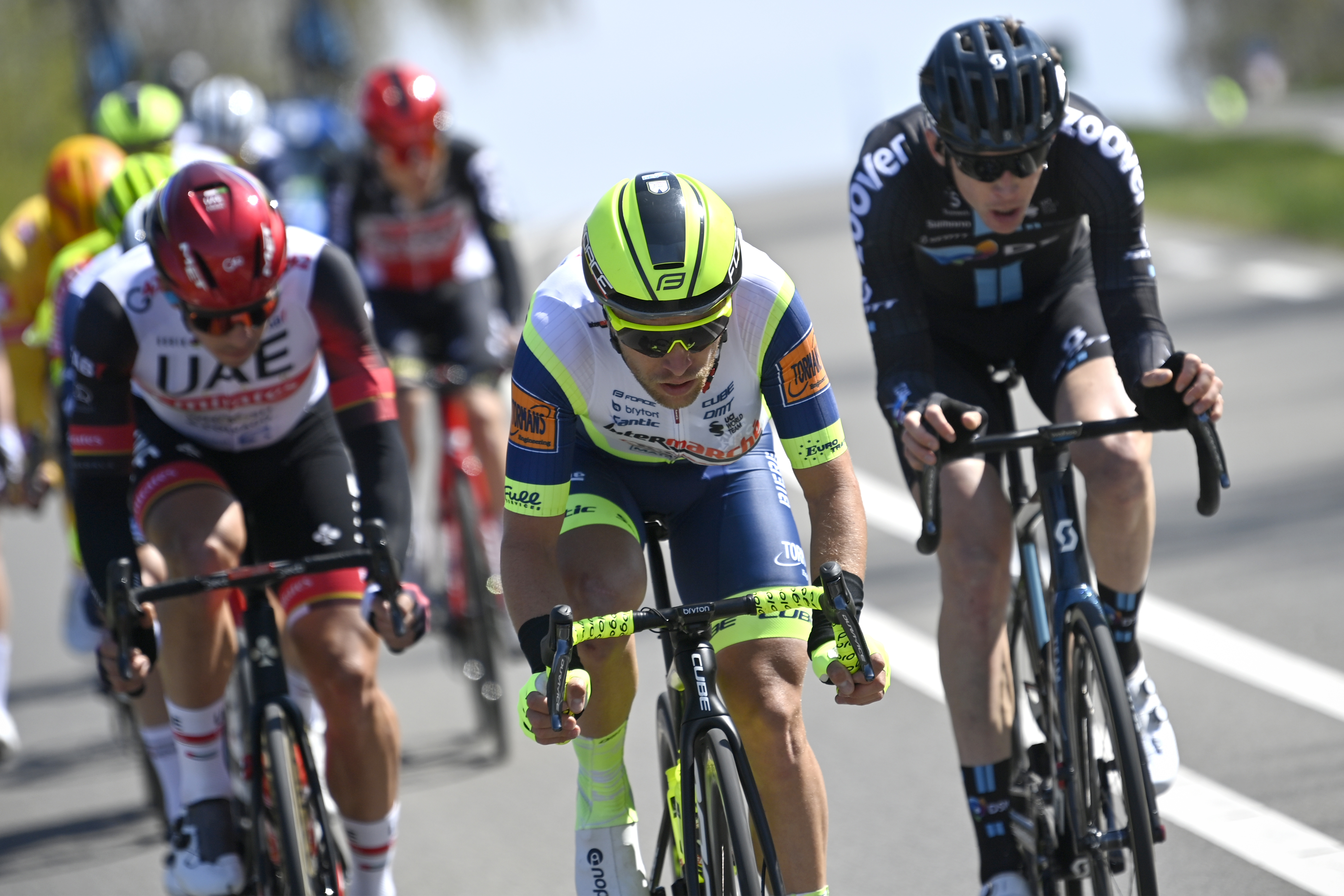 Dutch Maurits Lammertink of Intermarche WantyGobert Materiaux pictured in action during the men elite Amstel Gold Race one day cycling race 21836 km from Valkenburg to Berg en Terblijt The Netherlands Sunday 18 April 2021 BELGA PHOTO ERIC LALMAND Photo by ERIC LALMANDBELGA MAGAFP via Getty Images