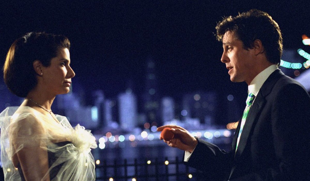 Two Weeks Notice Sandra Bullock and Hugh Grant talk on the water