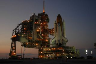 STS-121 at the Pad: NASA's Discovery Shuttle Reaches Launch Site