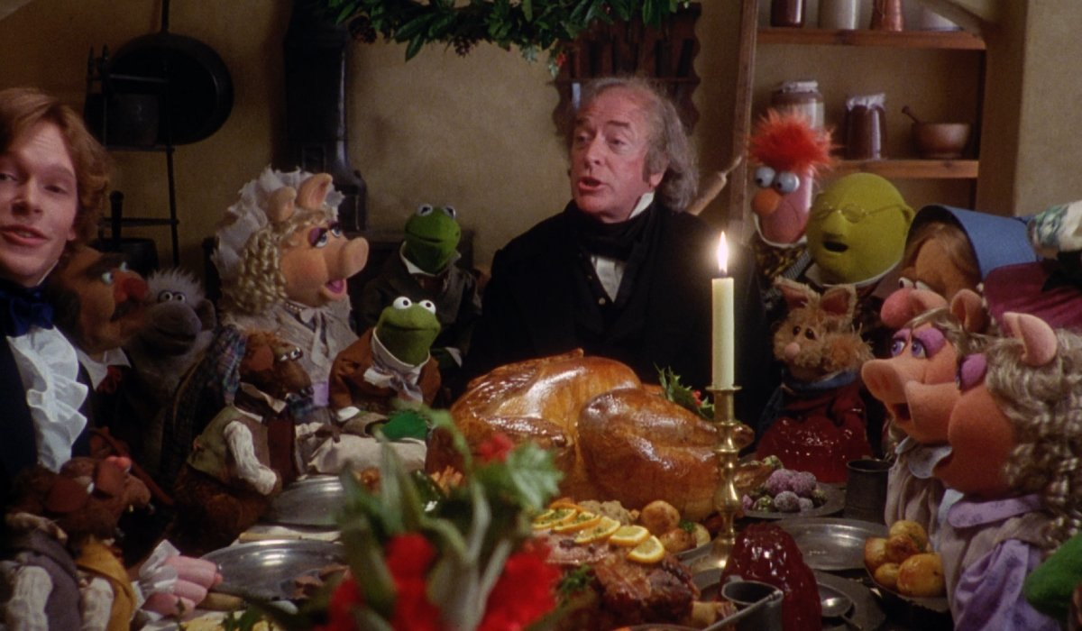 The Muppet Christmas Carol Scrooge at Christmas dinner with family