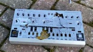 Smashed Behringer TD-3