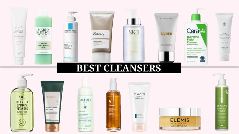 best cleansers main collage of top facial washes