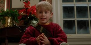 Kevin McCallister taunting the Wet Bandits in Home Alone