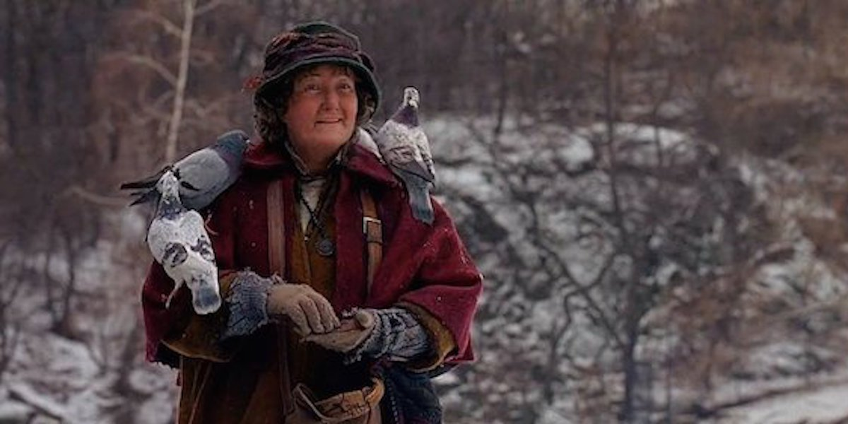 'Pigeon Lady' Brenda Fricker will be spending Christmas alone this year