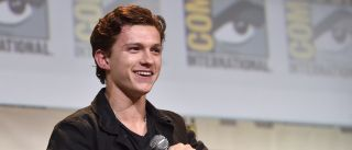 "SAN DIEGO, CA - JULY 23: Actor Tom Holland from Marvel Studios' ""Spider-Man: Homecoming"" attends the San Diego Comic-Con International 2016 Marvel Panel in Hall H on July 23, 2016 in San Diego, California."