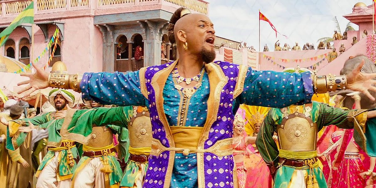 """Will Smith leading the """"Prince Ali"""" dance number in Aladdin"""