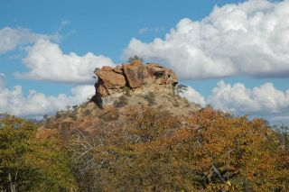 An ancient rainmaking site called ratho kroonkop used by shamans in South Africa.