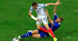 Jamie Vardy plays for England