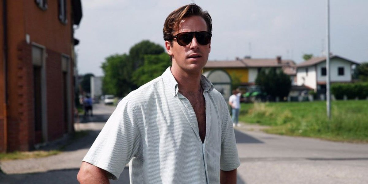 Armie Hammer in heat of summer Call Me By Your Name